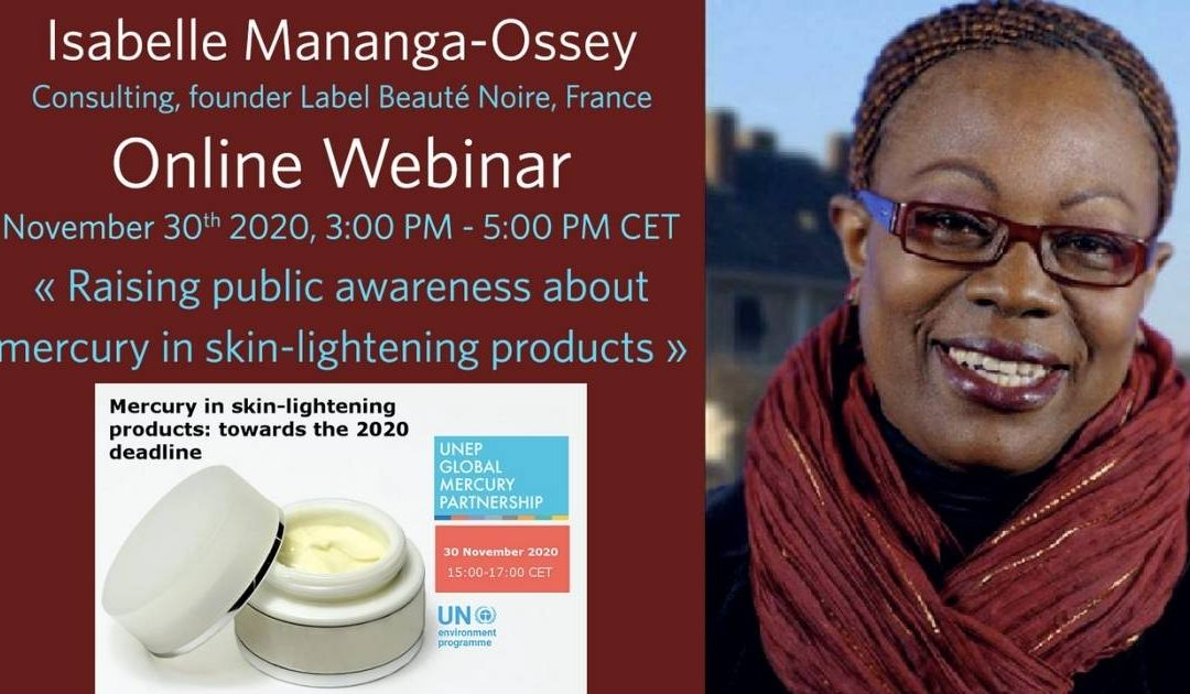 Webinar Mercury in skin – lightening products: towards the 2020 deadline